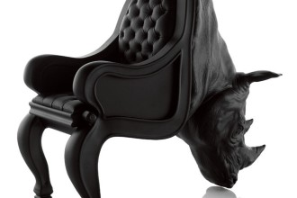 Animal-shaped chairs printed in 3D