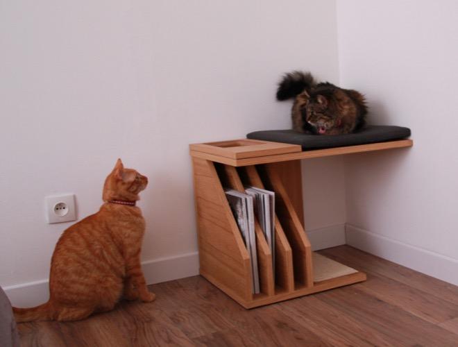 on a test pour vous le mobilier chic pour chats de f linea yummypets. Black Bedroom Furniture Sets. Home Design Ideas