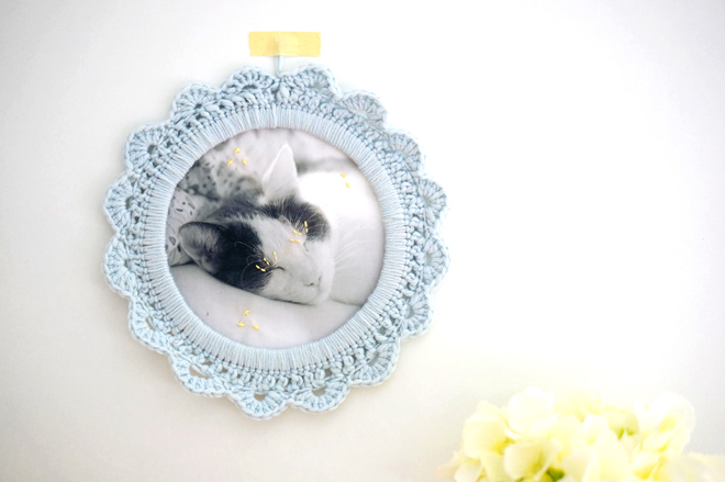 DIY: Crochet picture frame for your pet - Yummypets