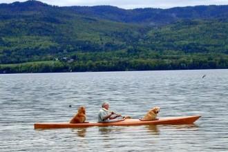Cet homme construit un kayak adapté à ses chiens