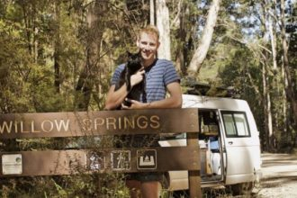 The man who quit his job to travel in a van with his cat